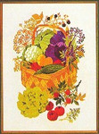 "77084176 Eva Rosenstand Kit Vegetables & Herbs in a Basket 18"" x 24""; Linen; 25ct"