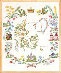 "7712631 Eva Rosenstand Kit Pictorial Map 16"" x 20"" ; Linen; 30ct"
