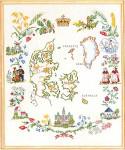 "7712631 Eva Rosenstand Kit Pictorial Map 16"" x 20"" ; Linen; 30ct"