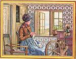 """7714201 Eva Rosenstand Kit Knitter 14"""" x 18""""; Linen; 25ct"""