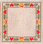 "7722292 Eva Rosenstand Kit Hearts & Pines Doily 8"" x 8""; Linen; 25ct"