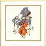 "7714084 Eva Rosenstand Kit Piano & Cello 10"" x 10""; Aida; 14ct"