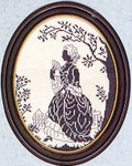 "7712375 Eva Rosenstand Kit Silhouette Of A Lady 8"" x 10""; Linen; 25ct"