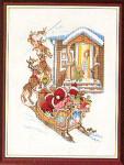 """7714029 Eva Rosenstand Kit Waiting For Santa 12"""" x 16""""; Linen; 25ct"""