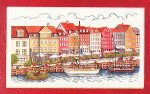 "7714226 Eva Rosenstand Kit Ships In Harbor 12"" x 20""; Linen; 25ct"