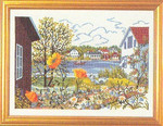 "7714204 Eva Rosenstand Kit Lakeside House 16"" x 12""; Linen; 25ct"