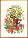 "77084385 Eva Rosenstand Kit Vegetables & Herbs in a Pitcher 18"" x 24""; Linen; 25ct"