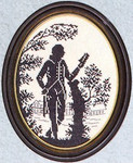 "7712348 Eva Rosenstand Kit Silhouette Of A Gentleman 8"" x 10""; Linen; 25ct"