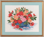 "7714260 Eva Rosenstand Kit Bowl Of Roses 20"" x 24""; Linen; 25ct"