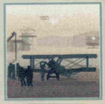 "HCK408 Heritage Crafts Kit Aerodrome by Phil Smith 5"" x 5""; Evenweave; 28ct"