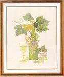 """77084372 Eva Rosenstand Kit Wine Motif II 19"""" x 23""""; Linen; 25ct"""