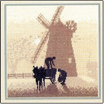 "HCK372 Heritage Crafts Kit Windmill by Phil Smith 5"" x 5""; Evenweave; 28ct"