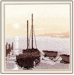 "HCK331 Heritage Crafts Kit Safe Harbour by Phil Smith 5"" x 5""; Evenweave; 28ct"