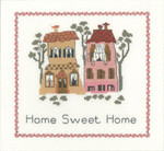 "HCK1082 Heritage Crafts Kit Home Sweet Home 8"" x 8.5""; Evenweave; 27ct"