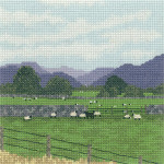 "HCK1102 Heritage Crafts Kit Cumbrian Sheep Thomas Beutel 6.25"" x 6.25"" Evenweave; 27ct"