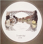 "HCK12 Heritage Crafts Kit Ironbridge 5.6"" x 8.2""; Aida; 16ct"