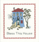 "HCK1081 Heritage Crafts Kit Bless This House 8"" x 8.5""; Evenweave; 27ct"