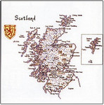"HCK132 Heritage Crafts Kit Scotland Map by Susan Ryder 14"" x 15""; Evenweave; 28ct"