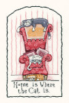 "HCK954A Heritage Crafts Kit Home is Where the Cat Is by Peter Underhill - Cats-Rule! 10.5"" x 6"" ; Aida; 14ct"