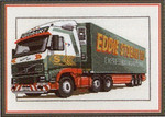 "HCK489 Heritage Crafts Kit Eddie Stobart Truck by Dave Shaw 7"" x 12""; Evenweave; 28ct"