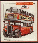 "HCK159 Heritage Crafts Kit London Double Decker Bus by Dave Shaw 7"" x 12""; Evenweave; 28ct"