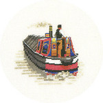 "HCK945 Heritage Crafts Kit Traditional Narrow Boat 3"" x 4""; Evenweave; 28ct"