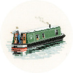 "HCK944 Heritage Crafts Kit Modern Narrow Boat 3"" x 4""; Evenweave; 28ct"