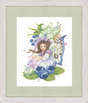 "PN146993 Lanarte Kit Blueberry Girl 8"" x 11""; Aida; 14ct"