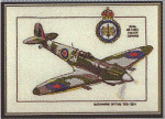 """HCK165 Heritage Crafts Kit Supermarine Spitfire - Aeroplanes by Dave Shaw 7"""" x 10""""; Evenweave; 28ct"""