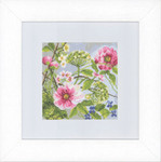 "PN146359 Lanarte Kit Peonies 7"" x 7""; Evenweave; 27ct"
