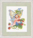 "PN147156 Lanarte Kit Wild Strawberry Girl  8"" x 11""; Aida; 14ct"
