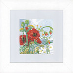 "PN147506 Lanarte Kit Poppies 7"" x 7""; Aida; 14ct"