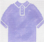 65 Lilac Polo Shirt Ornament 4.75 x 4.75 13 Count Silver Needle Designs