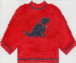 80 Red Sweater with Black Lab Ornament 5.5 x 4.5 13 Count Silver Needle Designs