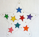 196 Star Pillow 10 x 10 12 Count Silver Needle Designs