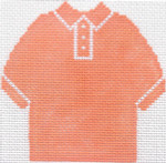 58 Sherbet Polo Shirt Ornament 4.75 x 4.75 13 Count Silver Needle Designs