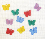 197 Butterfly Pillow 10 x 8.5 12 Count Silver Needle Designs