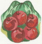 390 Cherries Ornament 4 x 4.25 18 Count Silver Needle Designs