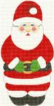 279 Mr. Claus Ornament 3.5 x 7 18 Count Silver Needle Designs