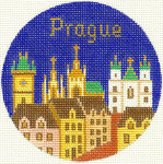 473	Prague Ornament 4.25 RD. 18 Mesh Silver Needle Designs