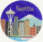 498 Seattle Ornament 4.25 RD. 18 Mesh Silver Needle Designs