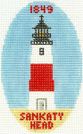 510 Sankaty Head Lighthouse Ornament 5 x3 18 Count Silver Needle Designs