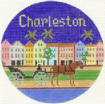 604 Charleston Ornament 4.25 RD. 18 Mesh Silver Needle Designs