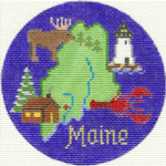 610 Maine Ornament	4.25 RD.	18 Mesh Silver Needle Designs