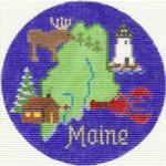 610 Maine Ornament4.25 RD.18 Mesh Silver Needle Designs