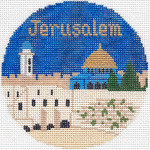 682 Jerusalem Ornament 4.25 RD. 18 Mesh Silver Needle Designs