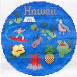 702 Hawaii Ornament4.25 RD. 18 Mesh Silver Needle Designs
