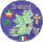 665 Ireland Ornament 4.25 RD. 18 Mesh Silver Needle Designs