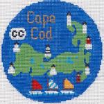 698 Cape Cod Ornament 4.25 RD. 18 Mesh Silver Needle Designs