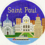 627 Saint Paul Ornament 4.25 RD. 18 Mesh Silver Needle Designs